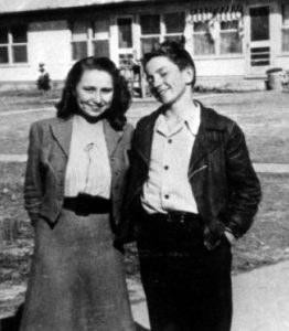 Bobbie and Willie. Abbott High circa 1948.