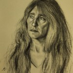 Ann, 2012, charcoal and chalk on paper, 13x17in(33x43cm)