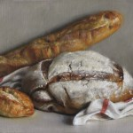 Bread, 2014, oil on linen, 10x14in (25x35.5cm)
