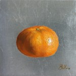 Clementine, 2016, oil on silverleaf panel, 5x5in (13x13cm)