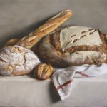 Fresh Loaves, 2014, oil on linen, 18x24in (46x61cm)