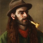 Man With A Pipe, 2014, oil on linen, 18x14in (45x35.5cm)