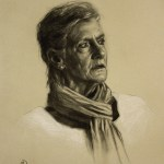 Margareta, 2012, charcoal and chalk on paper, 17x22in (43x55cm)