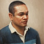 Portrait of Paul, 2013, oil on linen on panel, 10x12in (25x30cm)