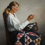 Quilting, 2013, oil on linen, 30x24in (76x61cm)