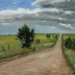 The Long Road, 2013, oil on panel, 14x18in (35.5x45.5cm)