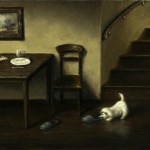 The Thief, 2011, oil on panel, 16x12in (40x30cm)