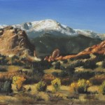 View Of Pikes Peak, 2014, oil on panel 8x12in (20x30cm)