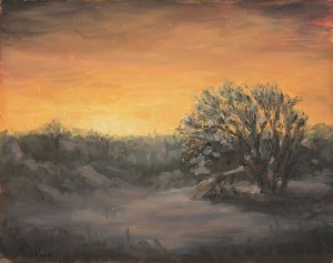 Winter Twilight, 2013, oil on panel, 8x10in (20x25cm)