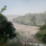 Zambezi Valley in Zimbabwe, Africa, 2008, oil on canvas board, 8x6in(20x15cm)