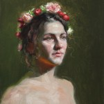 Flora, 2015, oil on panel, 16x12in (40x30cm)
