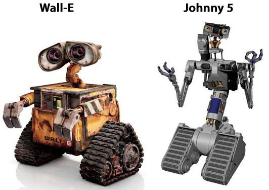 The Dat Look Alikes Walle And Johnny 5 From Short Circuit