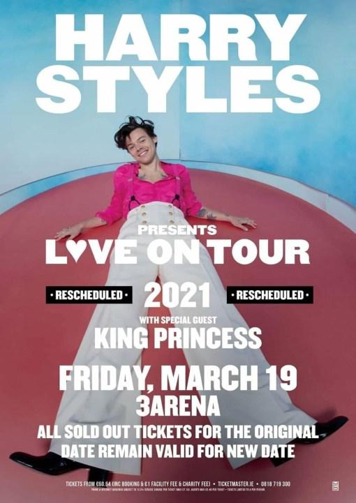 Harry styles 3 arena concert bus