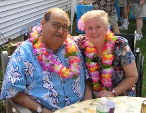 Mom & Dad at Luau