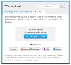 Twitter's FInd Friends