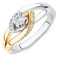 Engagement Ring with 1/2 Carat TW of Diamonds in 14kt ...
