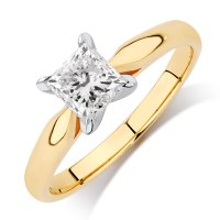 Solitaire Engagement Ring with 1 Carat Diamond in 14ct ...