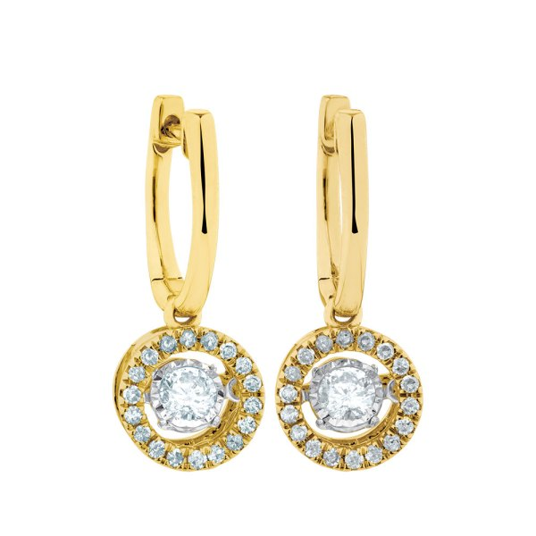 Everlight Earrings With 1 2 Carat Tw Of Diamonds In 10ct Yellow Gold