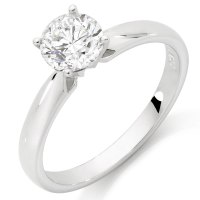 Solitaire Engagement Ring with a 1 Carat Diamond in 14ct ...
