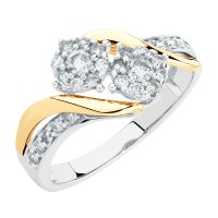 By My Side Engagement Ring with 1/2 Carat TW of Diamonds ...