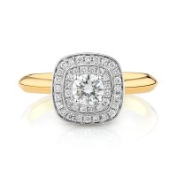 Whitefire Engagement Ring with 1/2 Carat TW of Diamonds in ...