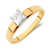 Solitaire Engagement Ring with a 1/2 Carat Diamond in 14kt ...
