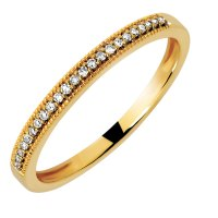 Wedding Band with 1/15 Carat TW of Diamonds in 10kt Yellow ...