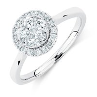 Engagement Ring with 1/2 Carat TW of Diamonds in 10kt ...