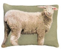 "NCU-787 Baby Sheep 16""x20"" Needlepoint Pillow"