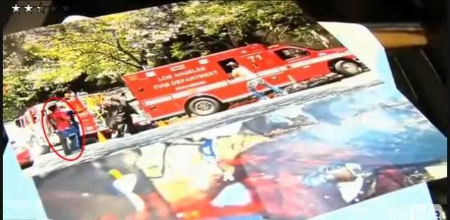 Michael Jackson photo of ambulance photo