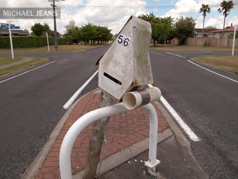 Misplaced letterbox 59, Shakespeare Street, Leamington 3432, NZ 4/12/2010