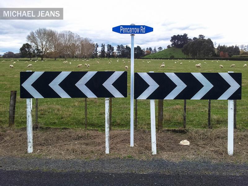 Pencarrow at Hooker Road junction Tamahere, Waikato