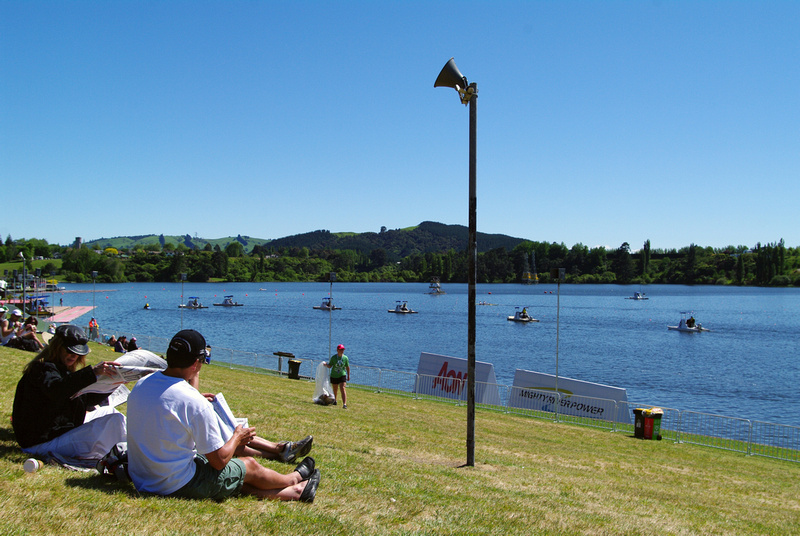 Umpire boats, Lake Karapiro, Waikato, New Zealand