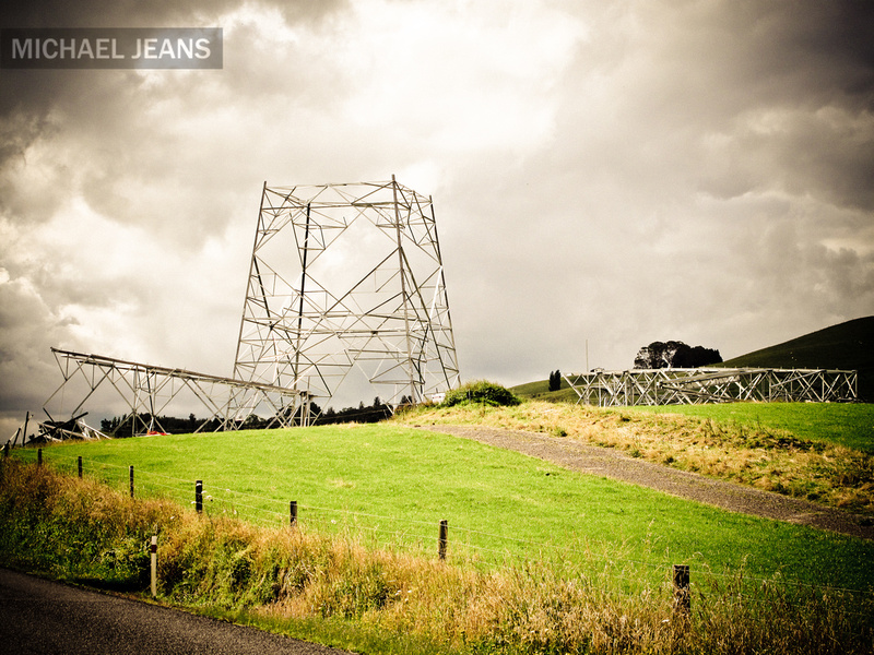 400kV power line pylon Taotaoroa