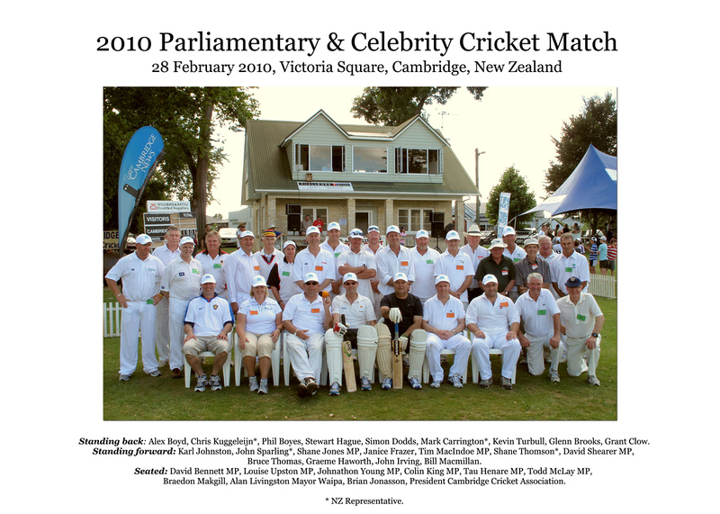 2010 Parliament and Celebrity Cricket Match – Celebrating 140 years of Cricket in Cambridge