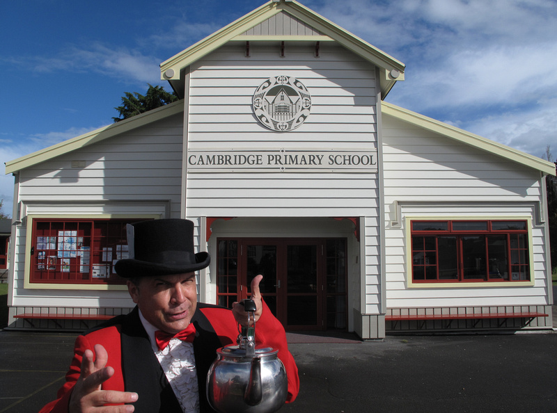 The Mad Hatter at Cambridge Primary School hall