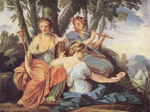 The Muses Clio, Euterpe and Thalia Eustache Le Sueur 1640/5
