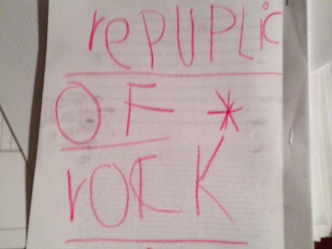 Toby Pearson-Kramer Republic of Rock homemade cover.