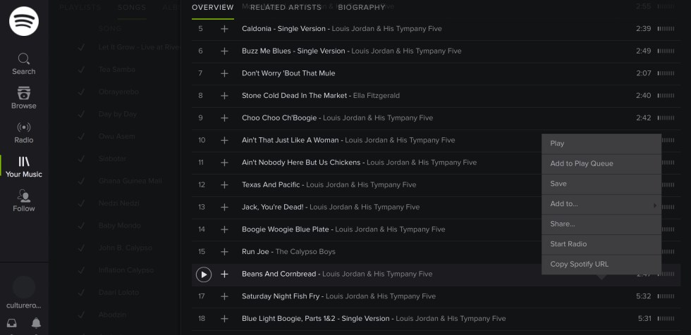 Spotify add song to playlist