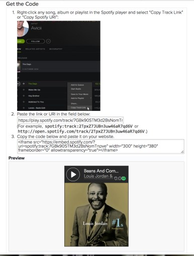 Spotify embed code