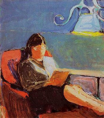 Diebenkorn, Richard woman reading, 1959