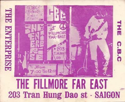 CBC Band poster, The Fillmore Far East, Saigon, Vietnam, 30 April 1971.