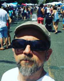 Michael J. Matera at the Hoboken Art & Music Festival
