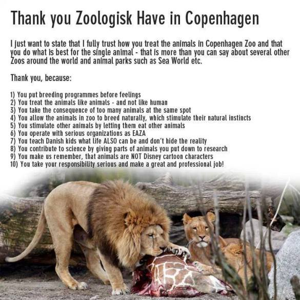 Thank you to Zoologisk Have in Copenhagen