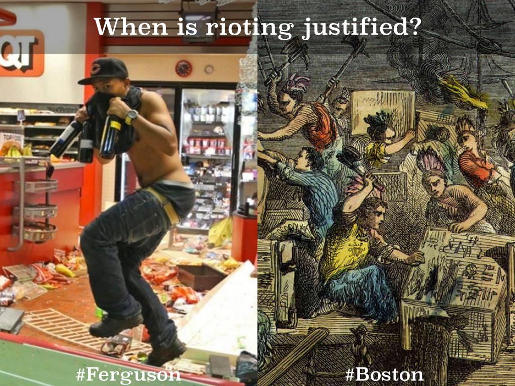 Ferguson vs. Boston   Mike Kaechele
