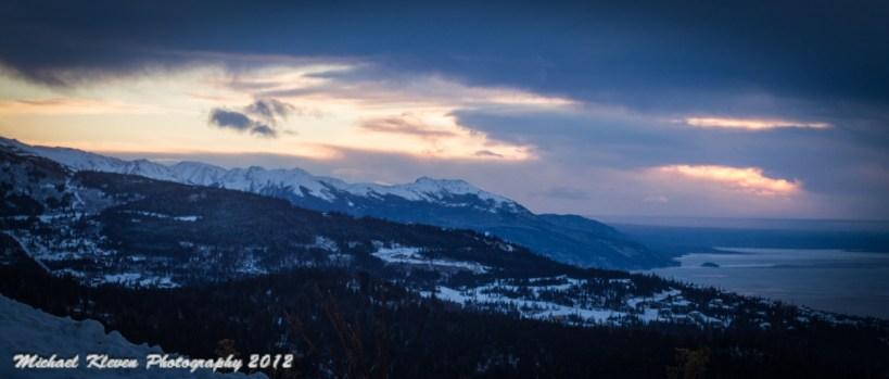 Alaska sunset December 2012