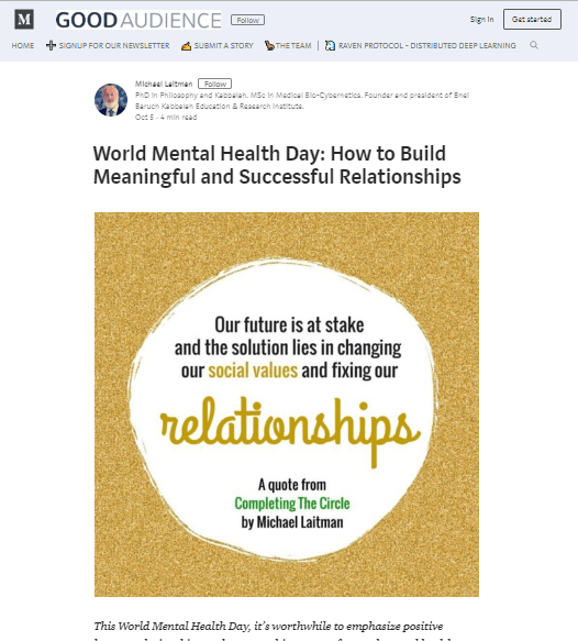 World Mental Health Day: How to Build Meaningful and Successful