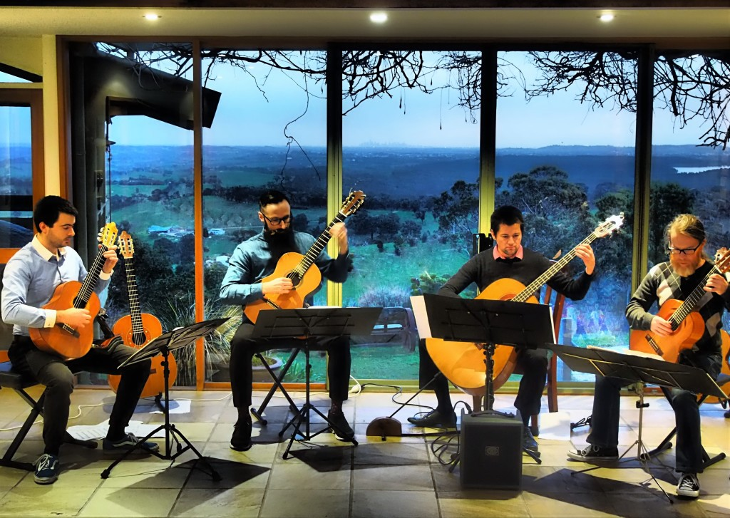 MGQ gives a private house concert
