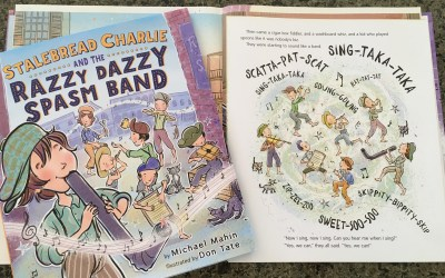 Book Birthday: Stalebread Charlie and the Razzy Dazzy Spasm Band by Michael Mahin, illust. by Don Tate