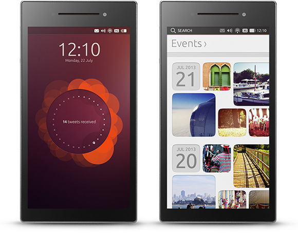 Screenshots of the Ubuntu Edge